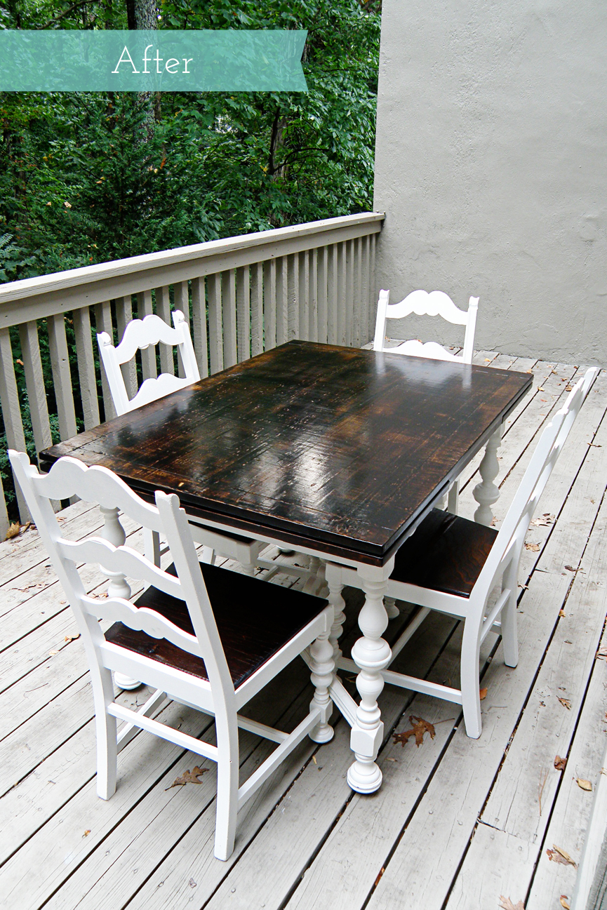 Kitchen Table and Chairs Rustic Makeover | alewood furniture co
