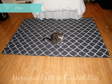 Painted Moroccan Rug Makeover